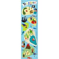 Oopsy Daisy Pirate's Treasure Map Canvas Growth Charts