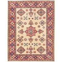Herat Oriental Afghan Hand-knotted Vegetable Dye Kazak Wool Rug (5'2 x 6'8)