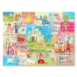 Oopsy Daisy Royal Alphabet Stretched Canvas Wall Art