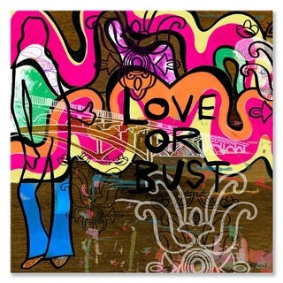 Wheatpaste Love or Bust Stretched Canvas Wall Art