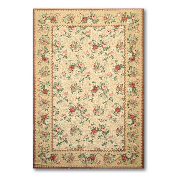 Shop Hand Woven Needlepoint Multicolor Area Rug Wool 5 6