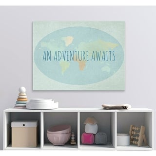 Oopsy daisy 'An Adventure Awaits' 24 x 18-inch Stretched Canvas Wall Art