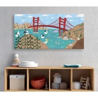 Oopsy Daisy Sunny San Francisco Canvas Wall Art