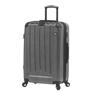 Mia Toro ITALY Diamante Spazzolato 26-inch Expandable Hardside Spinner Suitcase (Option: Silver)