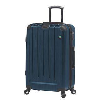 Mia Toro ITALY Diamante Spazzolato 26-inch Expandable Hardside Spinner Suitcase (Option: Blue)