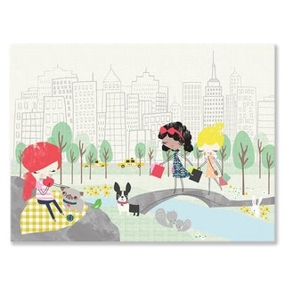 Oopsy Daisy New York Girls 24 x 18-inch Stretched Canvas Wall Art
