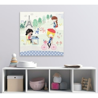 Oopsy Daisy Paris Girls Canvas Wall Art