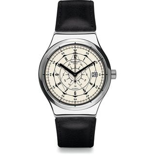 Swatch Men's YIS402 'Sistem Soul' Automatic Black Leather Watch|https://ak1.ostkcdn.com/images/products/14705203/P21236133.jpg?impolicy=medium