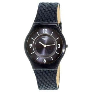 Swatch Unisex SFN123 'Blaumann' Blue Leather Watch