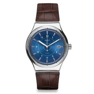 Swatch Men's YIS404 'Sistem Fly' Automatic Brown Leather Watch|https://ak1.ostkcdn.com/images/products/14705211/P21236129.jpg?impolicy=medium