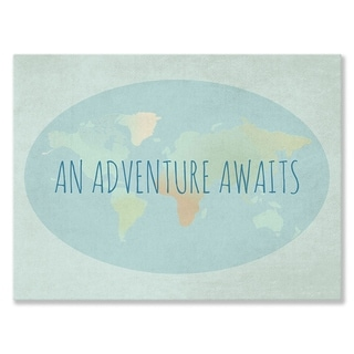 Oopsy daisy 'An Adventure Awaits' 40 x 30-inch Stretched Canvas Wall Art