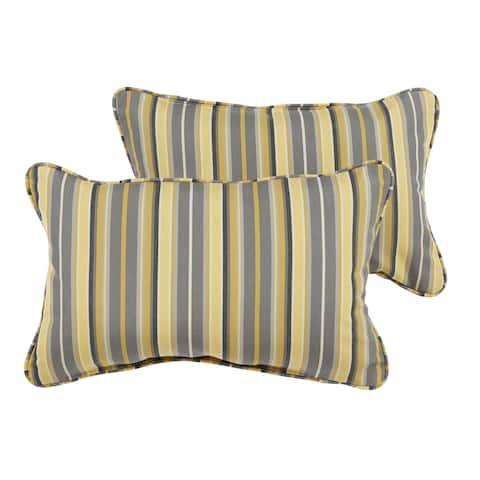 Janey Sunbrella Foster Metallic Indoor/ Outdoor 13 x 20 Inch Corded Pillow Set