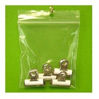 Clear Polyethylene 2-inch x 2-inch 2-mil Reclosable Hang-hole Zipper-style Bags (Pack of 1,000)