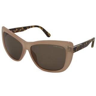 Tom Ford - TF0434-72J Orange 58 mm Square Sunglasses