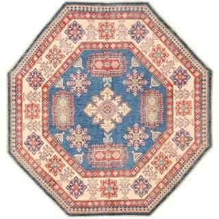 Herat Oriental Afghan Hand-knotted Vegetable Dye Kazak Wool Rug (7' x 7')