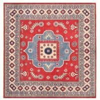 Herat Oriental Afghan Hand-knotted Vegetable Dye Kazak Wool Rug (8'3 x 7'11)