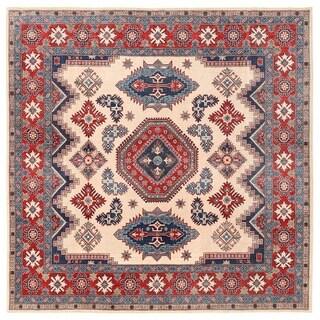Herat Oriental Afghan Hand-knotted Vegetable Dye Kazak Wool Rug (9' x 9')