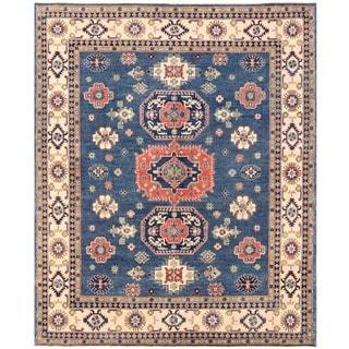 Herat Oriental Afghan Hand-knotted Vegetable Dye Kazak Wool Rug (8'2 x 9'10)
