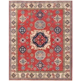 Herat Oriental Afghan Hand-knotted Vegetable Dye Kazak Wool Rug (8'4 x 10'4)