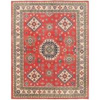 Handmade Herat Oriental Afghan Vegetable Dye Kazak Wool Rug - 7'9 x 9'10 (Afghanistan)