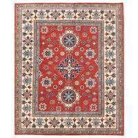 Handmade Herat Oriental Afghan Vegetable Dye Kazak Wool Rug - 7'10 x 9'7 (Afghanistan)