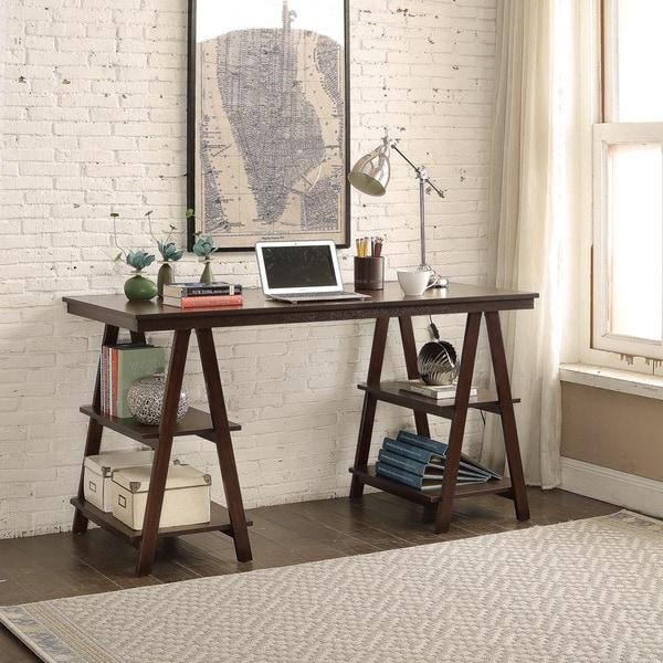 Home Decorators Desk: Shop Briarwood Home Decor Dark Brown Wood 52-inch Sawhorse