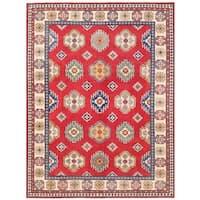 Herat Oriental Afghan Hand-knotted Vegetable Dye Kazak Wool Rug (8'10 x 12')
