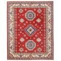 Herat Oriental Afghan Hand-knotted Vegetable Dye Kazak Wool Rug (8'11 x 11'7)