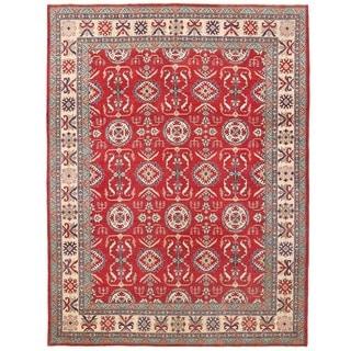 Herat Oriental Afghan Hand-knotted Vegetable Dye Kazak Wool Rug (10' x 13'3)