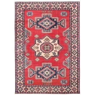 Herat Oriental Afghan Hand-knotted Vegetable Dye Kazak Wool Rug (9'7 x 13'8)