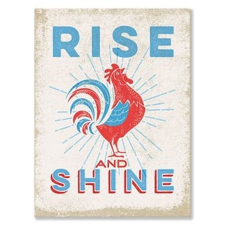 GreenBox 'Rooster Rise & Shine' by Fancy That Design House & Co - 10 x 14
