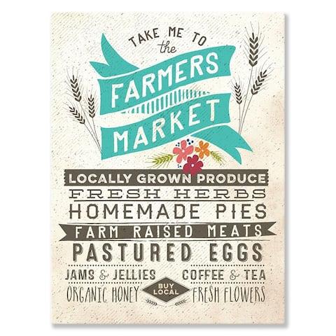 GreenBox 'Farmers Market' by Fancy That Design House & Co - 10 x 14