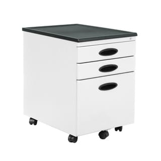 Offex Home Office White 3-Drawer File Cabinet
