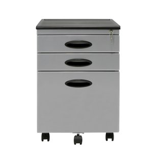 Offex Home Office Silver 3-Drawer File Cabinet