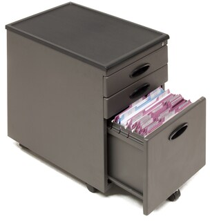Offex Home Office Pewter 3-Drawer File Cabinet