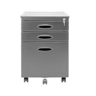 Offex Home Office Black 3-Drawer File Cabinet