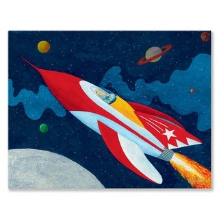 Oopsy Daisy Rocket Man Stretched Canvas Wall Art