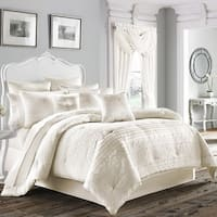 Five Queens Court Mackay Woven Scroll Horizontal Stripe 4-piece King Size Comforter Set (As Is Item)