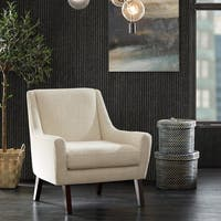 INK+IVY Scott Cream Morocco Lounge Chair