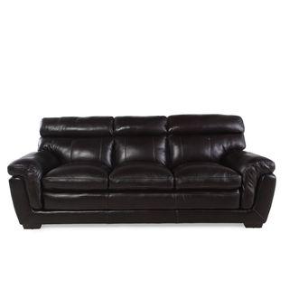 LYKE Home Walnut Brown Pillow Top Sofa