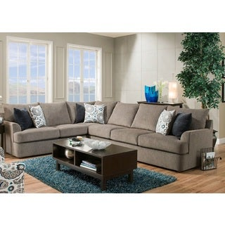 LYKE Home Contemporary Grey Sectional Sofa