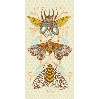 Oopsy daisy 'Honeycomb Insects' 12 x 24-inch Stretched Canvas Wall Art