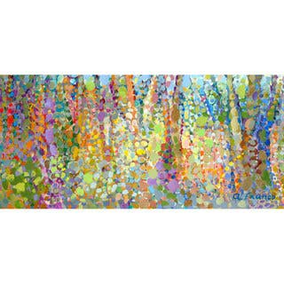 GreenBox 'Abstract Wilderness' by Angelo Franco Canvas Wall Art - 48 x 24