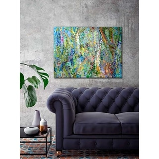 GreenBox Art + Culture 'Abstract Woodland' 40 x 30-inch Stretched Canvas Wall Art