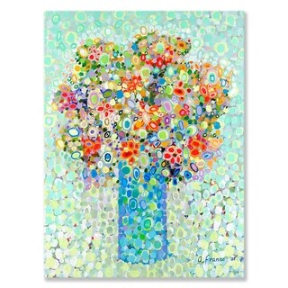 GreenBox Art + Culture 'Floral Bouquet Sage' 30 x 40-inch Stretched Canvas Wall Art