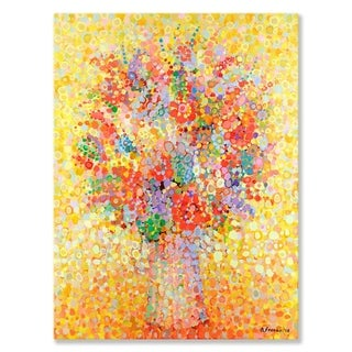 GreenBox Art + Culture 'Floral Bouquet Yellow' 30 x 40-inch Stretched Canvas Wall Art
