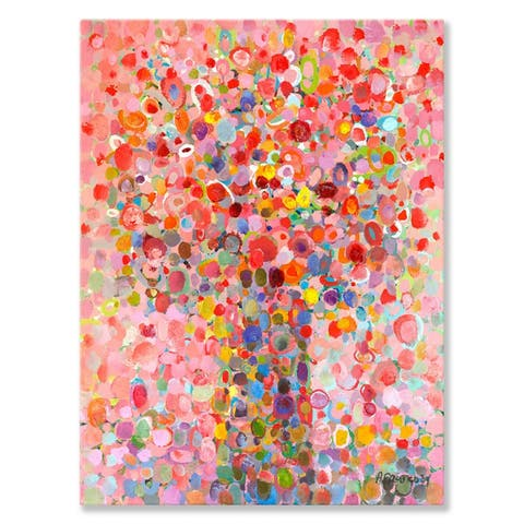 GreenBox 'Floral Bouquet Pink' by Angelo Franco Canvas Wall Art