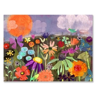 Oopsy daisy 'Field of Flowers' 24 x 18-inch Stretched Canvas Wall Art