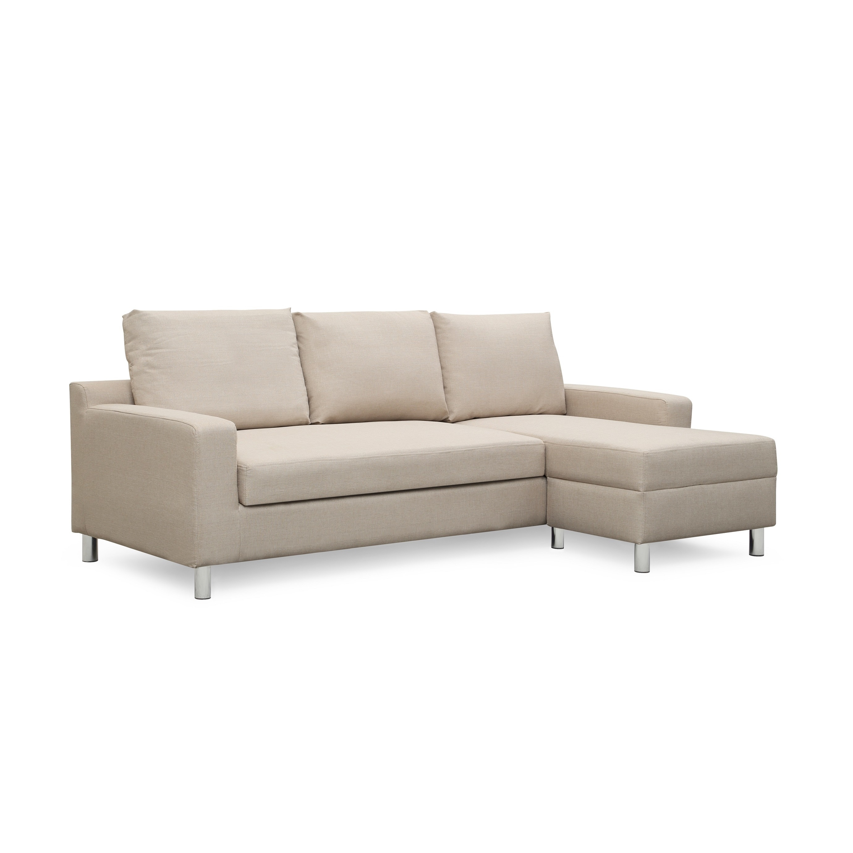 save off 4e237 d2db9 US Pride Furniture Hampton Linen Fabric Sectional Sofa with Pull-out Bed