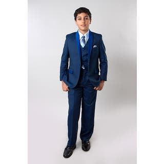 Taio Boys' Blue 5-piece Suit|https://ak1.ostkcdn.com/images/products/14706529/P21237262.jpg?impolicy=medium